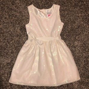 White dress with sequins